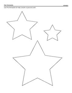 Drawn stare template cut out Fashion Free Applique Star Projects