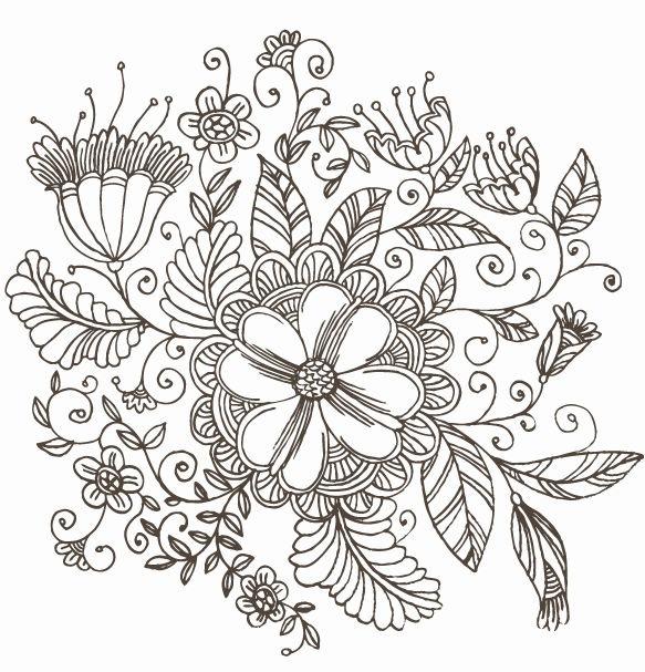 Drawn background flower designer Line Flower Graphic Pattern Swirl