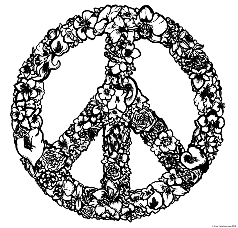 Drawn peace sign  PEACE SIGN PRINT