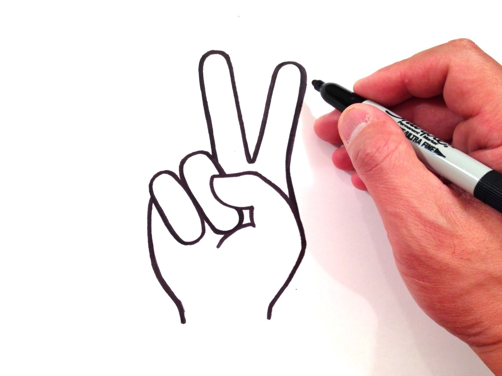Drawn peace sign Peace  How to a