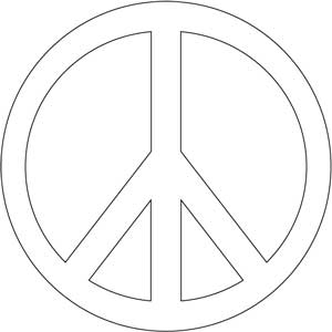 Drawn peace sign 60's Coloring Hosting Free Peace Sign
