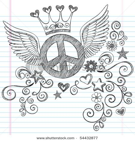 Drawn peace sign 70's Pinterest about doodle Signs flying