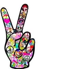 Drawn peace sign 70's  Girl Heart Peace peace
