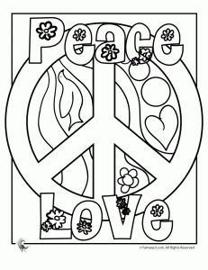 Drawn peace sign 70's Totally loved hippie best Pages