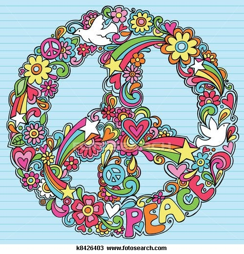 Drawn peace sign 70's Sign 185 Retro Retro and