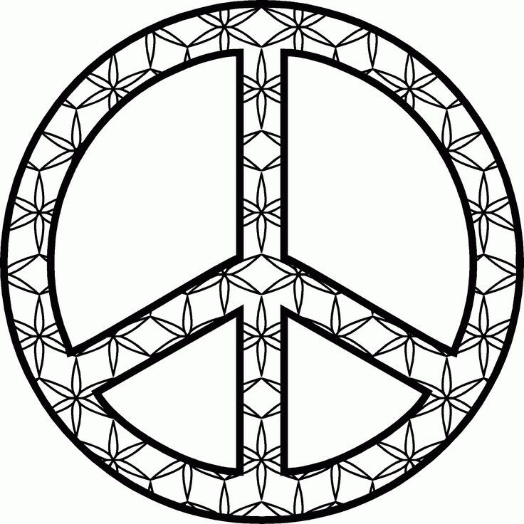 Drawn peace sign 70's And 70's on Symbols images