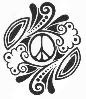 Drawn peace sign abstract Tattoo tattoo Pinterest sign design