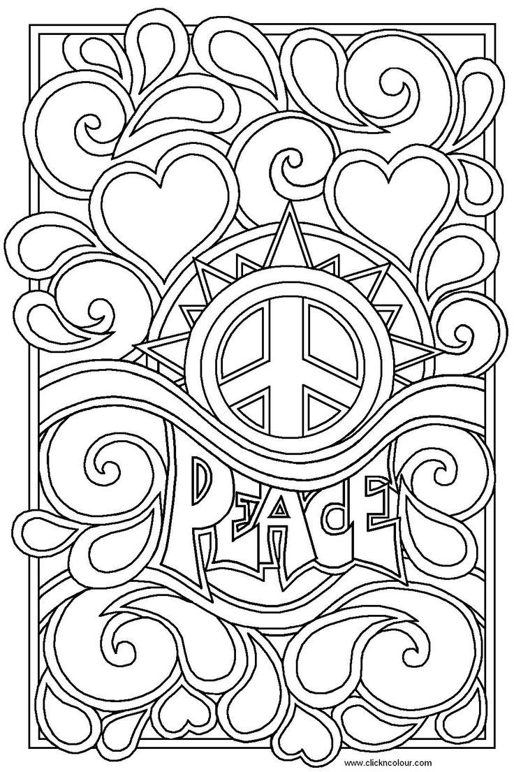 Drawn peace sign abstract 4 TAM Find COLOR COLOR
