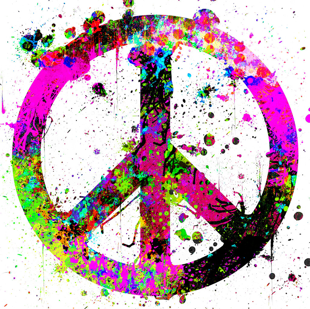 Drawn peace sign abstract  is sign tattoo Splatter