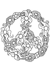 Peace Sign clipart simple My Coloring and Love Pages