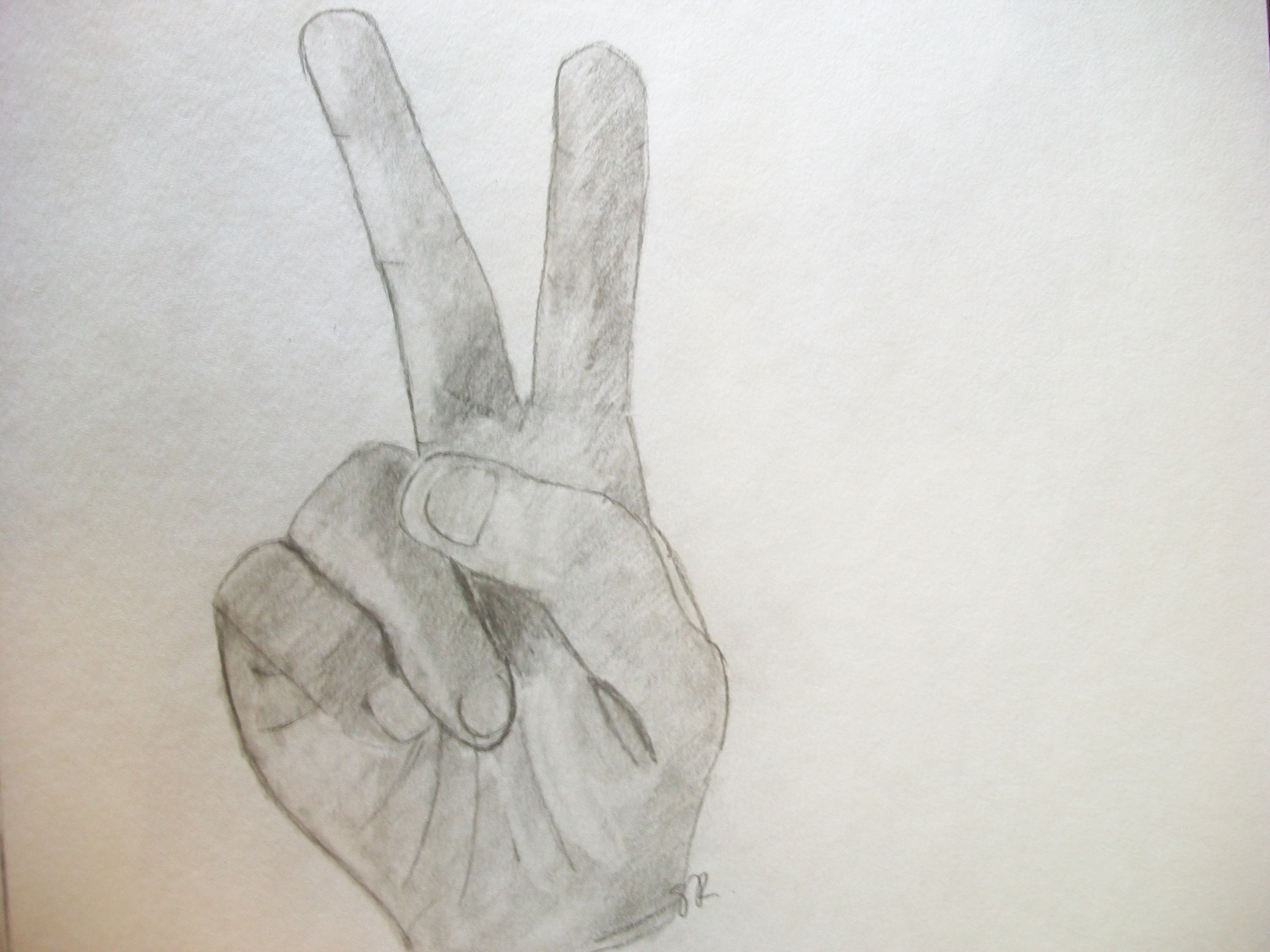Drawn peace sign anime hand 2011 Drawing Jul © 15