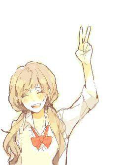 Drawn peace sign anime hand Girl Original/Random Anime Fanart Anime