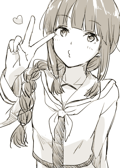 Drawn peace sign anime hand  #manga Pinterest y Manga