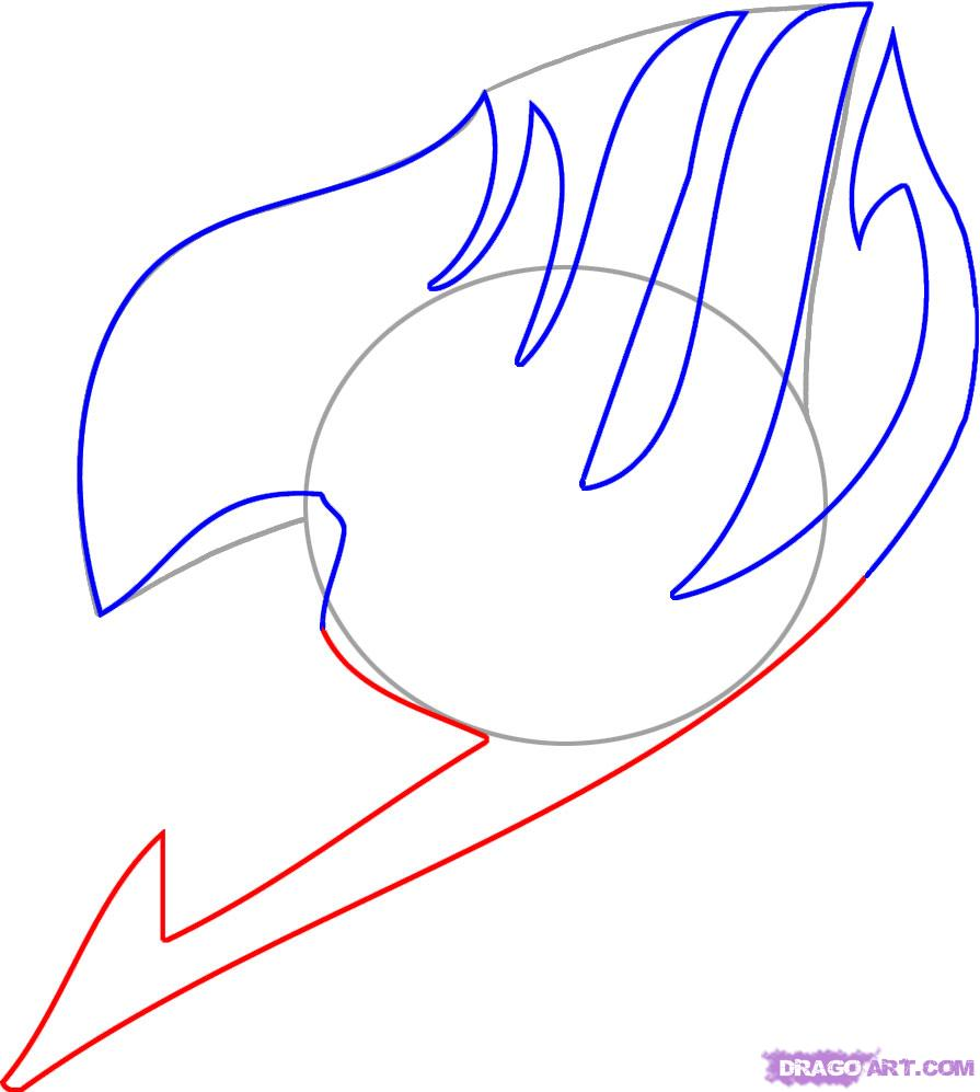 Drawn peace sign anime hand Tail Step step Draw How