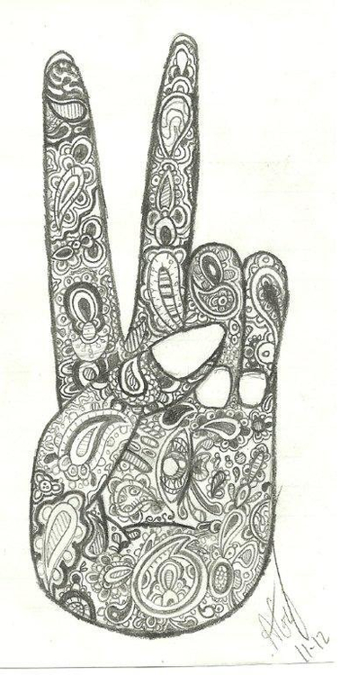 Drawn peace sign artistic Tumblr *Art: art paisley Pinterest