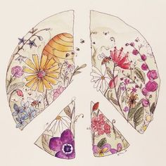 Drawn peace sign artistic Go Darcy Hippie Earth this
