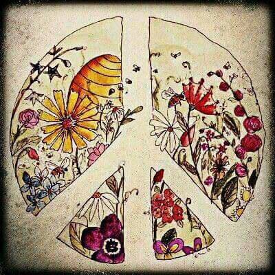 Drawn peace sign artistic Best 25+ with flowers on