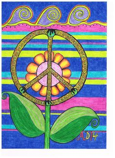 Drawn peace sign beatles Hippie Peace ❤~ yin Together