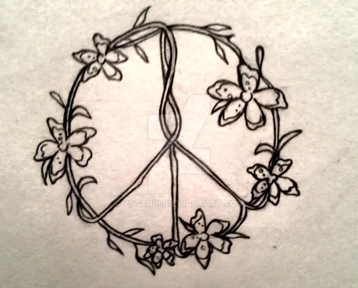 Drawn pot plant peace sign Peace 25+ by vstar06 flower