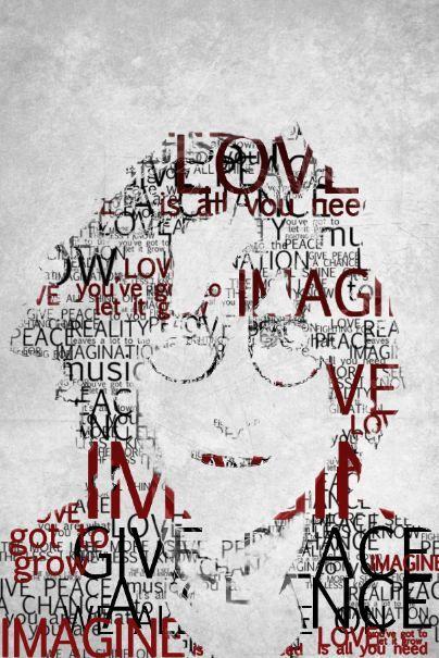Drawn peace sign beatles BEATLES John Lennon  Pinterest