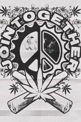 Drawn weed peace sign Joint Hippie American ☮ Weed
