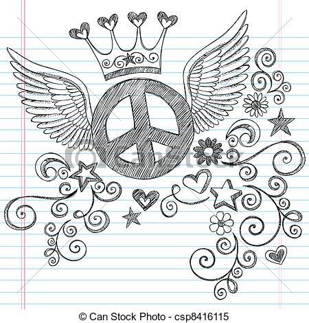 Drawn peace sign blingee Cool To Draw Cool To