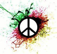 Drawn peace sign blingee Flower Pinterest Google Buscar peace