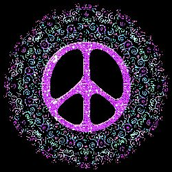 Drawn peace sign blingee About Pinterest best pastels 1647