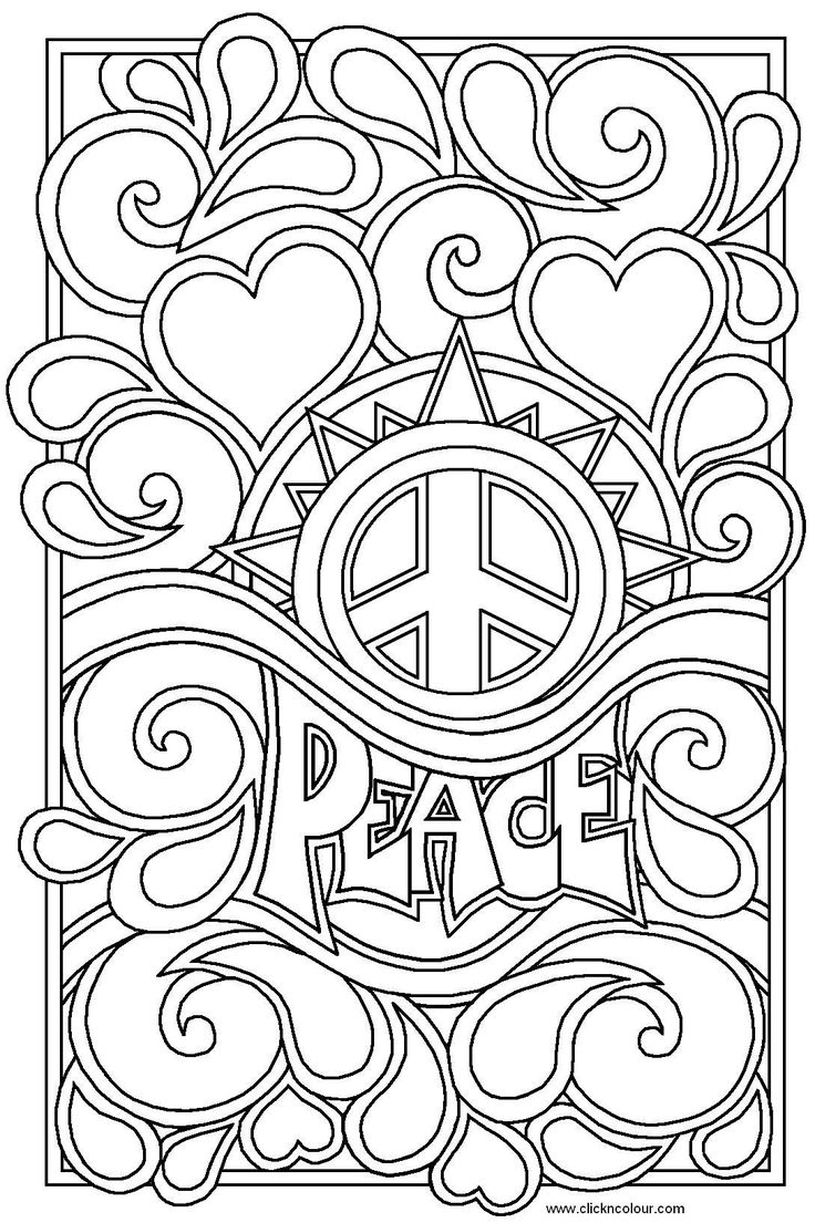 Drawn peace sign color 4 CRAFT Find more SIGN