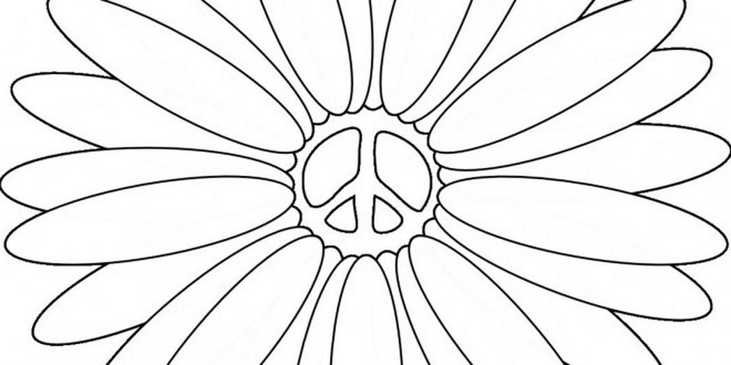 Drawn peace sign coloring page Peace Hand Coloring Sign Coloring