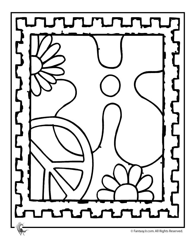 Drawn peace sign coloring page SIGN COLOR PEACE 4 COLOR
