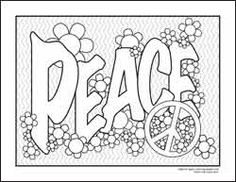 Drawn peace sign coloring page Coloring for ages I pages