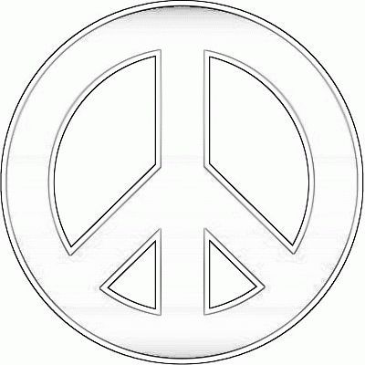 Drawn peace sign coloring page Pages kids Coloring Kids For