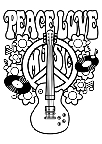 Drawn peace sign coloring page Simple Pages Attractive and Free