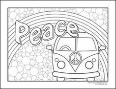 Drawn peace sign coloring page Coloring Love My Pages sheets