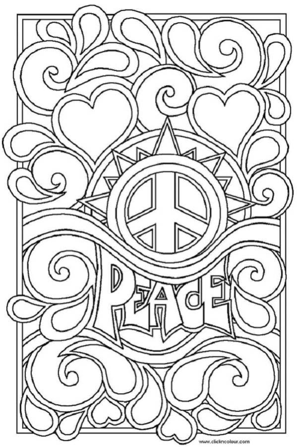Drawn peace sign coloring picture FOR ALL Find this BODY