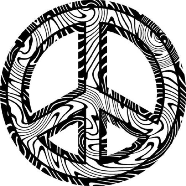 Drawn peace sign coloring picture Peace sign 17 Best coloring