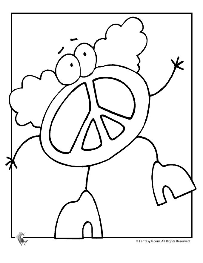 Drawn peace sign coloring picture COLOR 49 ers 4 Coloring