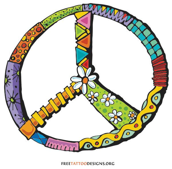 Drawn peace sign creative Tattoos Sign best Peace on