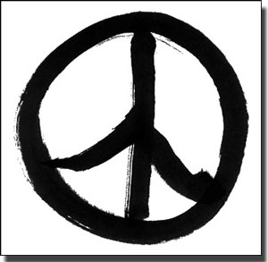 Drawn peace sign creative Creative a or place refuge
