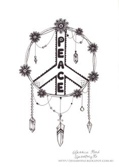 Drawn peace sign creative JessAmyFlo Peace by Peace a