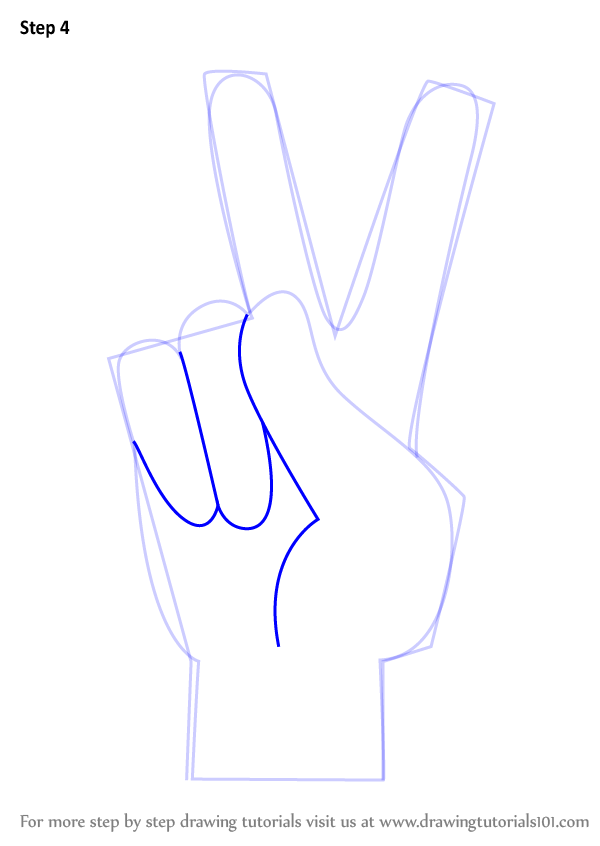 Drawn peace sign creative By Step Hand to Sign