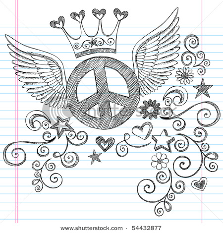 Drawn peace sign doodle Pattern flying Pinterest randomness sign