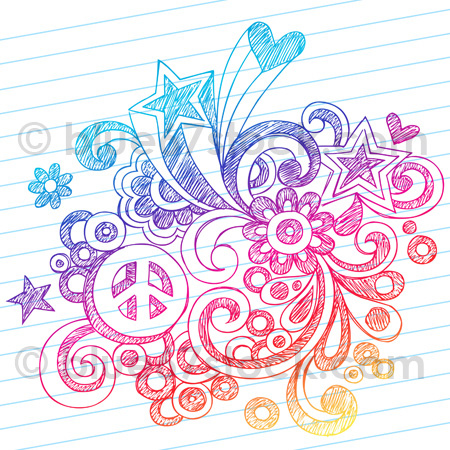 Drawn peace sign doodle By Vector Hand Flickr blue67design