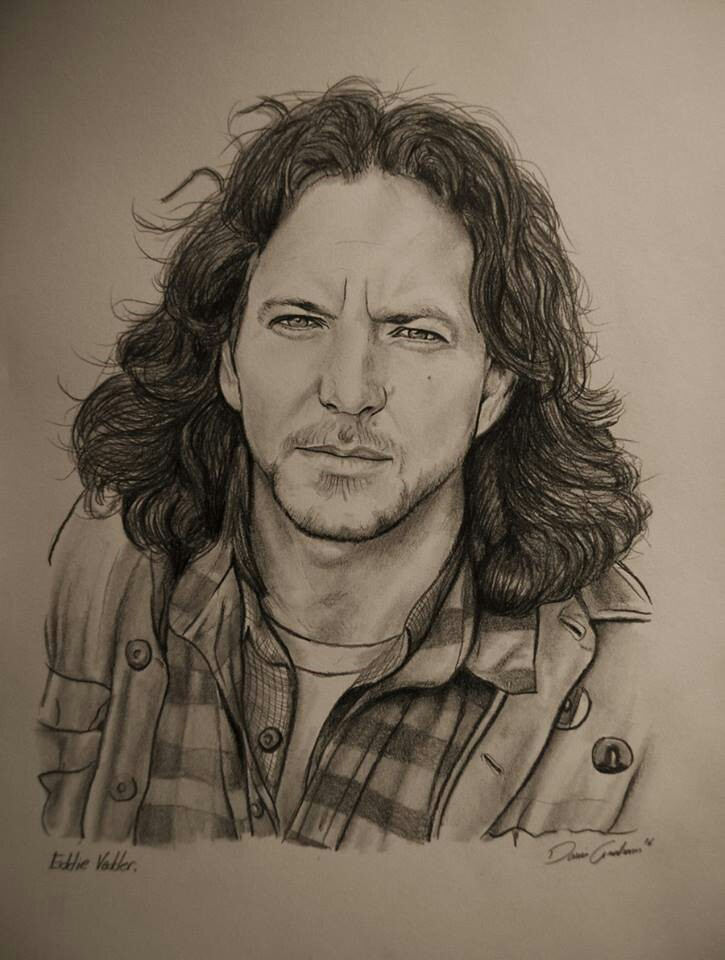 Drawn peace sign eddie vedder Vedder drawing fan drawing of