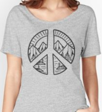 Drawn peace sign eddie vedder Design Sign Women's Relaxed and