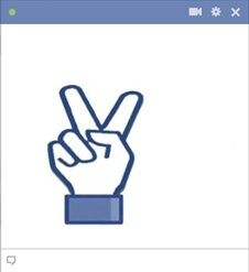 Drawn peace sign facebook Social on sign Emoticon Peace