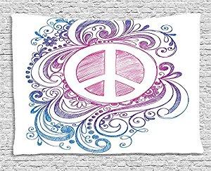 Drawn peace sign freedom Roll Swirls Throw Icon com:
