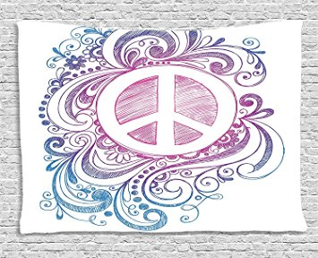 Drawn peace sign freedom Roll Swirls Collection Icon