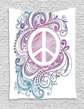 Drawn peace sign freedom Icon Freedom Classic Pink Swirls